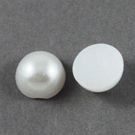 Akrila kabošons - pērļu imitācija 12x6 mm., 10 gab.