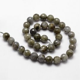 Natural labradorite beads 9-10 mm., 1 strand