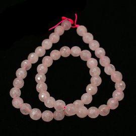 Натуральные бусины из розового кварца 10 мм., 1 нитка
