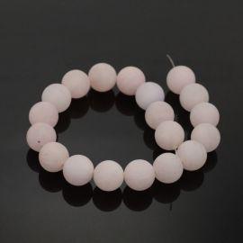 Natūralūs rožinio kvarco karoliukai 6 mm., 1 gija