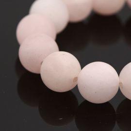 Natural pink quartz beads 8 mm., 1 strand