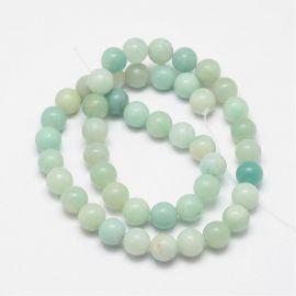 Natural amazonite beads 8-9 mm., 1 strand