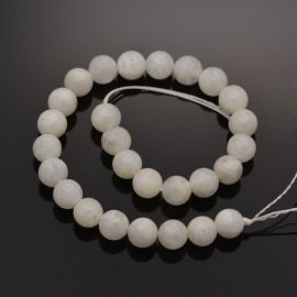 Natural moon stone beads, milky white color 10 mm, 1 strand