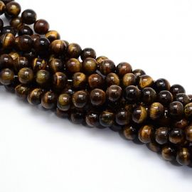 Natural beads of the tiger eye 6-7 mm., 1 strand
