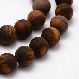 Natural beads of the tiger eye 8 mm., 1 strand