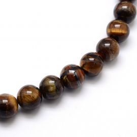 Natural beads of the tiger eye 8-9 mm., 1 strand