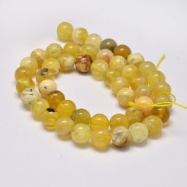Natural yellow opal beads 9-10 mm., 1 strand