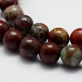 Natural African opal beads 8 mm., 1 strand