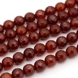 Бусины Карнеол коричнево-оранжевые 8 мм, 1 нитка