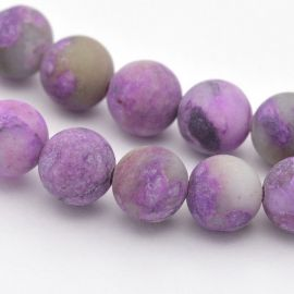 Natural stone beads 8-9 mm., 1 strand.