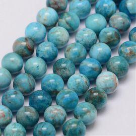 Natural apatito beads 8 mm., 1 strand