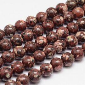 Natural bea herae beads 10 mm., 1 strand.
