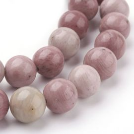 Natural rhododendral beads 10 mm., 1 strand