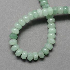 Natural green avnament beads, green color 8 mm, 1 strand.