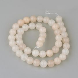 Natural pink avantiurin beads, white-pink-yellow 8 mm, 1 strand