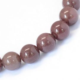 Natural beads of red avutrin 8 mm., 1 strand