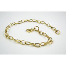 Chain - bracelet, gold color, 7x4.5 mm 20 cm long