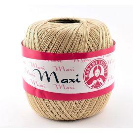 Madame Tricote Maxi thin thread, light cream color 100g. 1 rit.