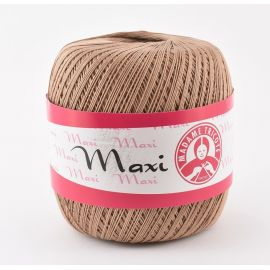 Madame Tricote Maxi thin thread, light brown 100g. 1 rit.