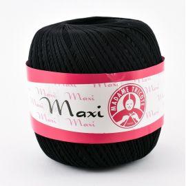 Тонкая нить Madame Tricote Maxi, черная 100гр. 1 рит.