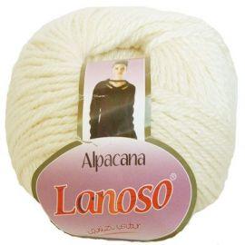 Alpacana Lanoso verpalai, baltos spalvos, 12,60 Eur už 5 ritinėlius
