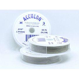 Ювелирный кабель ACCULON 0,31 мм, серый, 1 рулон