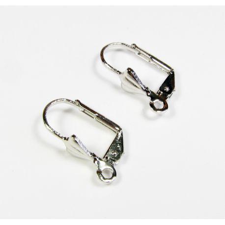 Āķi auskaru ražošanai, niķeļa krāsas 17x10 mm