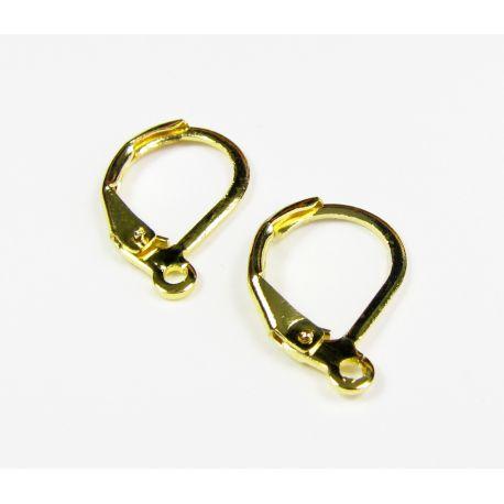 Āķi auskaru ražošanai, zelta 16x11 mm