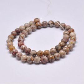 Natural Jaspio beads 8-9 mm., 1 strand