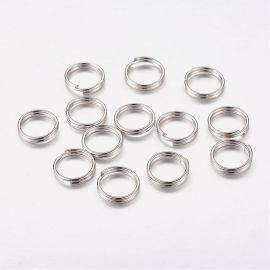 Double jump rings 7 mm, 10 pcs.